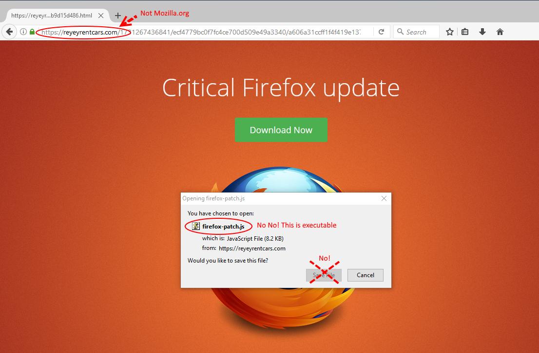 firefox update scam2