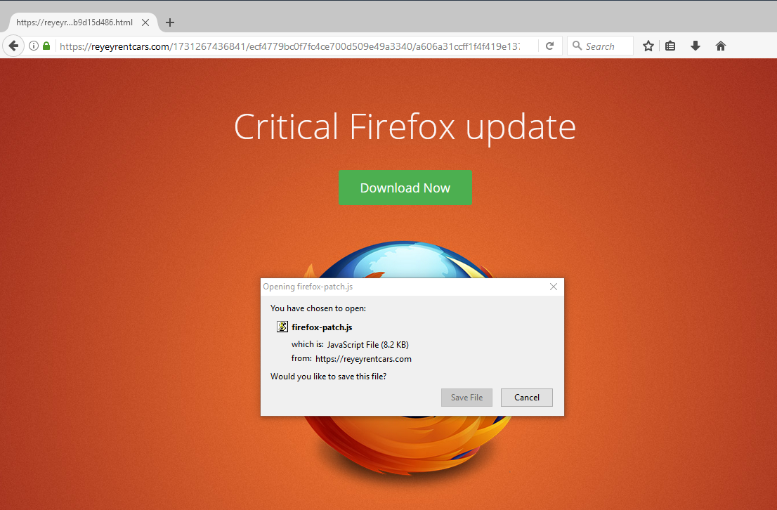 This is NOT a legit Firefox Update!