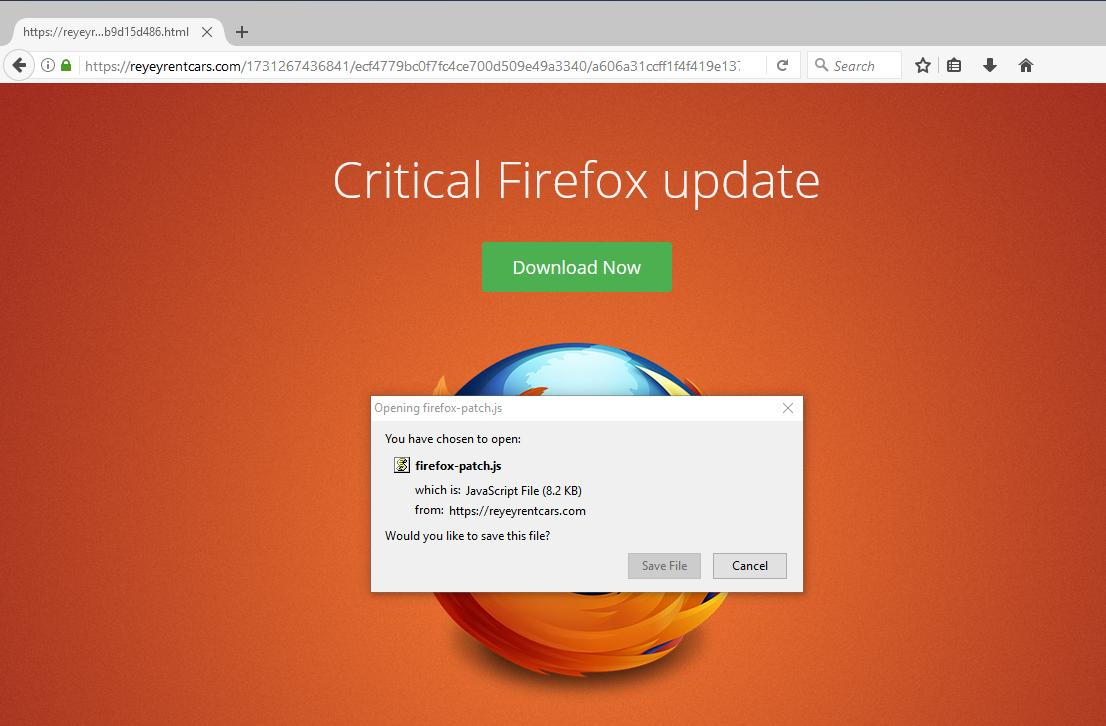 This is NOT a legit Firefox Update!