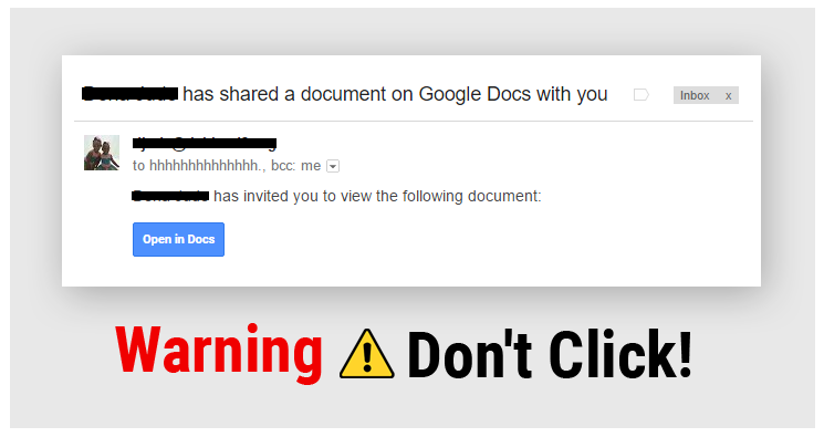 Alert – Google Docs Phishing Scam