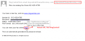 Alert – Fake RingCentral Emails