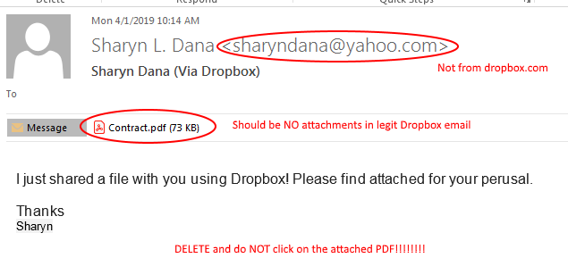 Scam Alert - Malicious DropBox Emails   Shring Technologies